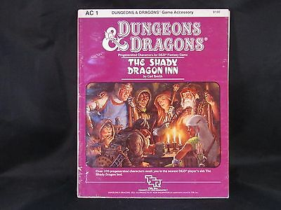 AD&D D&D DUNGEONS AND DRAGONS AC1 THE SHADY DRAGON INN EUC 1983 Players Aid
