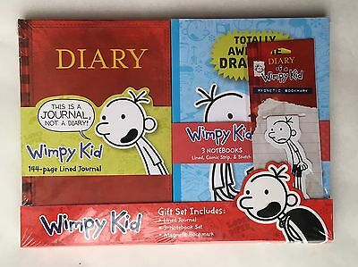 Diary of a Wimpy Kid Journal Notebooks Bookmark Childrens Books Gift Set Lot 5