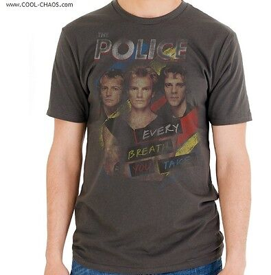 The Police T-shirt/Every Breath You Take,Police Tour,Distressed,Retro Reissue