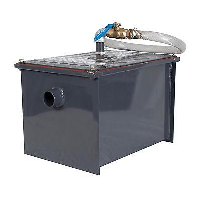 BK Resources BK-SGI-14 14 lb Semi-Automatic Grease Interceptor w/ Drawoff
