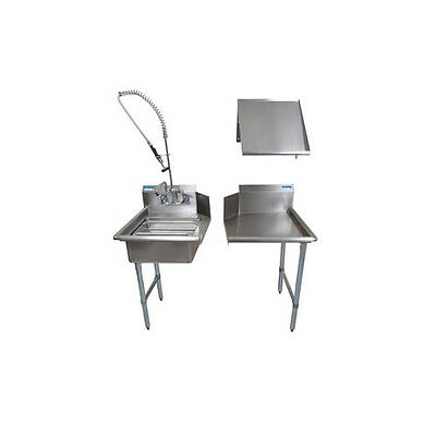 "BK Resources BKDTK-26-L-G 26"" Stainless Steel Dish Table Clean Room Kit"