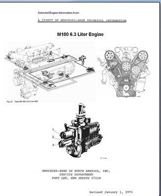 Mercedes 6.3L M100 ENGINE Service & Technical Modifications for 300SEL & Typ 600