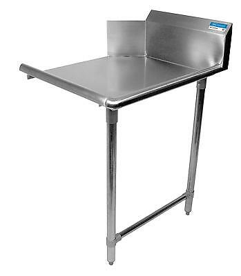 """BK Resources BKCDT-60-R-SS 60"""" Clean Straight Dishtable Right Side w/ S/s Legs"""
