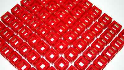 Rokenbok Accessories Red Block set New 72 pieces cube connector 1