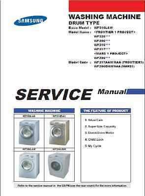Repair Manual: Samsung F/L Washers (choice of one manual, see below for models)