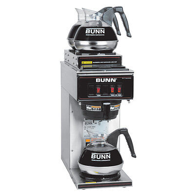 Bunn 13300.0004 Coffee Maker Pourover Low Profile w 3 Warmers NSF