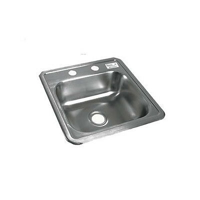 """BK Resources One Compartment 15-1/16""""x15-1/16""""StainlessSteel Drop-In Sink"""