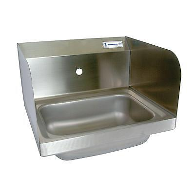 "BK Resources BKHS-W-1410-1-SS 14""W Wall Mount Hand Sink without Faucet"