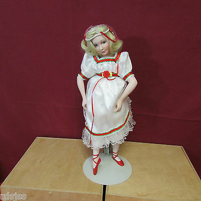 Lenox The Clara Nutcracker Doll Collection Porcelain Ballerina Doll