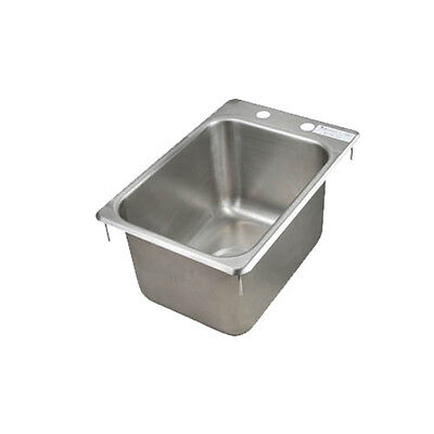 """BK Resources One Compartment 12-1/4""""x18"""" Stainless Steel Drop-In Sink"""