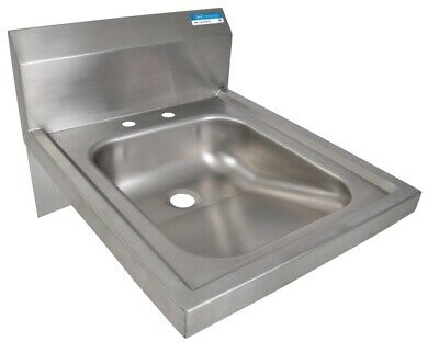 "BK Resources BKHS-ADA-D 14""W ADA Compliant Hand Sink without Faucet"