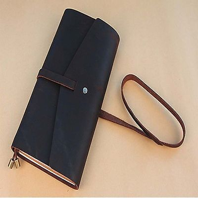 Vintage Leather Cover Diary Exercise Book Travel Planner Pocket Notebook Journal