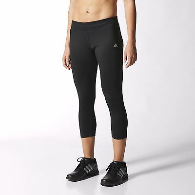 New Women's Adidas Performance 3/4 Capris Ladies Running Tight leggings/gym/yoga