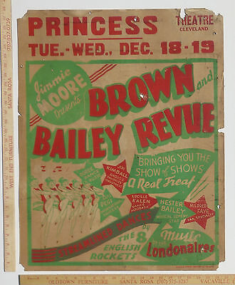 Brown Bailey Revue Dancing Girls Vaudeville Music Poster Cleveland Tenn 1930s?