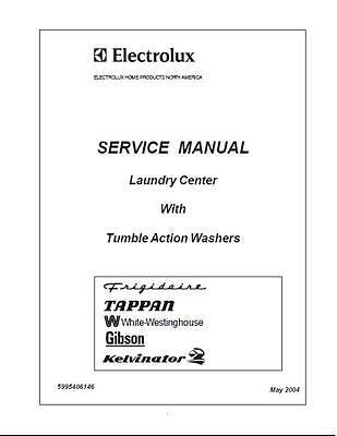 Repair Manual: Electrolux Washers (choice of 1 manual, see below for models)