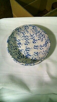 Bybee pottery Blue and white serving bowl.