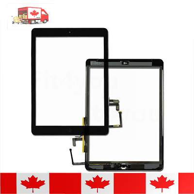 iPad Air 1 Black Touch Screen Digitizer Replacement With Home Button & Adhesive