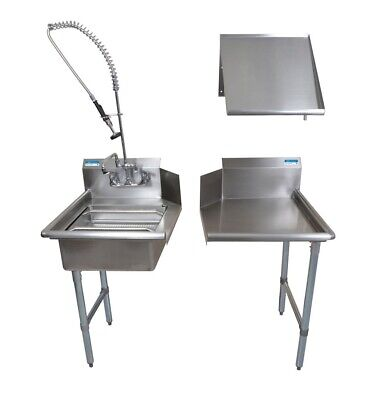 "BK Resources BKDTK-48-R-G 48"" Stainless Steel Dish Table Clean Room Kit"