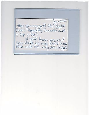 Vinny Paz Lightweight Boxing Champion Autographed 3 X 5 Index Card