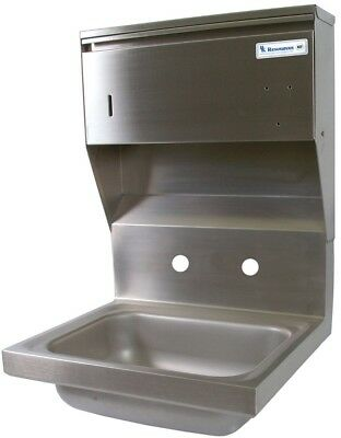 "BK Resources 14"" Wall Mount Hand Sink w/3-1/2"" Gooseneck Spout Faucet"