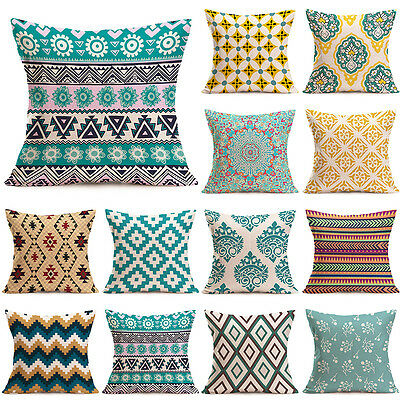 Luxury Home Bed Decor Linen Square Decorative Throw Pillow Case Cushion Cover