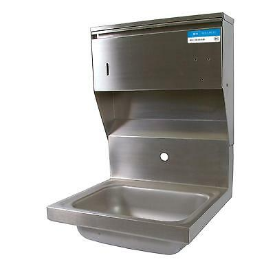 "BK Resources BKHS-W-1410-1-4D-TD 14""W Wall Mount Hand Sink without Faucet"
