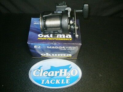Okuma Magda Pro Ma-30Dx Linecounter Pre-Spooled With 1000' 30# Blood Run Wire