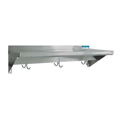 """BK Resources 96""""Wx12""""D Stainless Steel Wall Mount Economy Overshelf"""