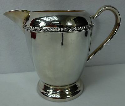 F B ROGERS company Silver on Copper Hollowware 52-oz Water Pitcher 1807 - 7""