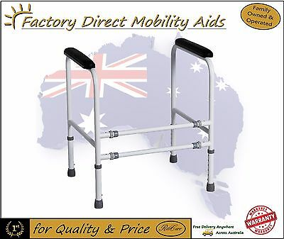 Toilet Safety Frame Height Adjustable 3 different width positions Great Buy!