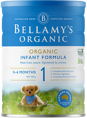 3 X Bellamy'S Organic Step 1 Infant Formula 900G