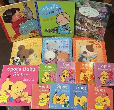 Bulk Board Books X 15, Spot, Maisy Animals, Rippon, Barber, Colours, Pooh, ABC