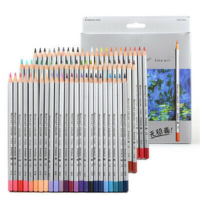 Marco 24-72 Color Pencil Set Raffine Fine Art Drawing Pencils Oil Base Non toxic