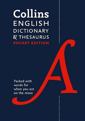 Collins English Dictionary & Thesaurus Pocket Edition [7th Edition] - NEW