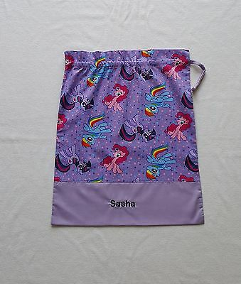 $$ Free Name Model1 My Little Pony (Purple)  Personalised Library Bag Fd