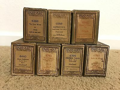 Lot of 7 Duo-Art Song Music Rolls For Reproducing Player Self-Playing Piano #6