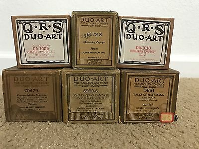 Lot of 6 Duo-Art Song Music Rolls For Reproducing Player Self-Playing Piano #7