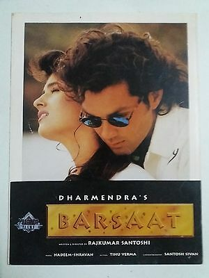 Old Bollywood Movie Press Book- Barsaat/bobby Deol Twinkle Khanna /1995