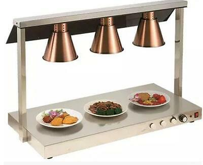 3 head food warmer lamp Buffet Heating Lamps Infrared egg tarts pizza cabinet
