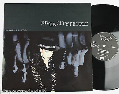 "RIVER CITY PEOPLE Walking On Ice (ext) 12"" UK 1990 12EM130"