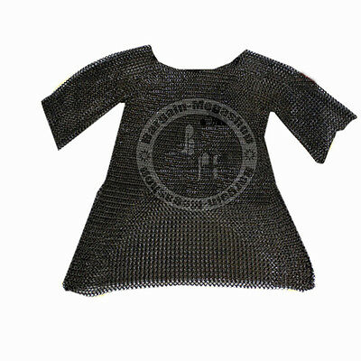 Large Size Chain Mail Shirt Round Riveted with Flat Washer Chainmail Hauberk SCA