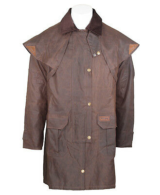 Toggi unisex Rancher 3/4 length coat Riding Wax Coat Brown Large