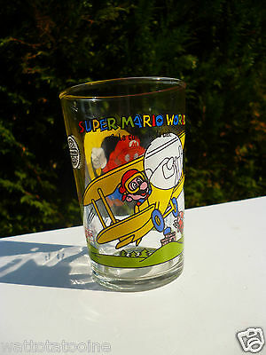 �� Verre A Moutarde Super Mario World Vintage Hauteur 10 Cm