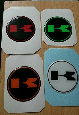 Kawasaki stickers/decal/choose colour HIGH GLOSS DOMED GEL FINISH 50mm..x1