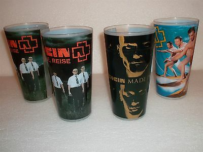 Rammstein Concert Cup - Becher - Tourbecher - Trinkbecher - Set X 4 Originals