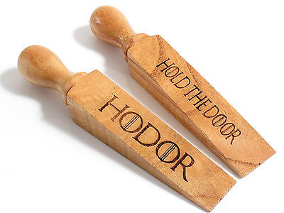 Hodor Door Stop Door Wedge Wooden Wood Stopper Game Of Thrones Hold The Door GoT