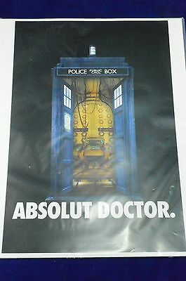 Absolut Doctor Who Advertising Print Tardis Police Public Call Box Telephone