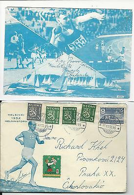 Olympic Games Finland 1950/1952 cachet cover to CSR