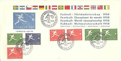 Football 1958 Sweden illustrated cover WORLD CUP Championship semi-final date