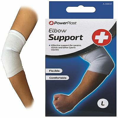 PowerPlast PROFESSIONAL KNITTED ELBOW ARM THICK QUALITY ELASTIC SUPPORT BANDAGE